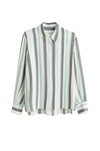 overhemd met streep dessin ecru