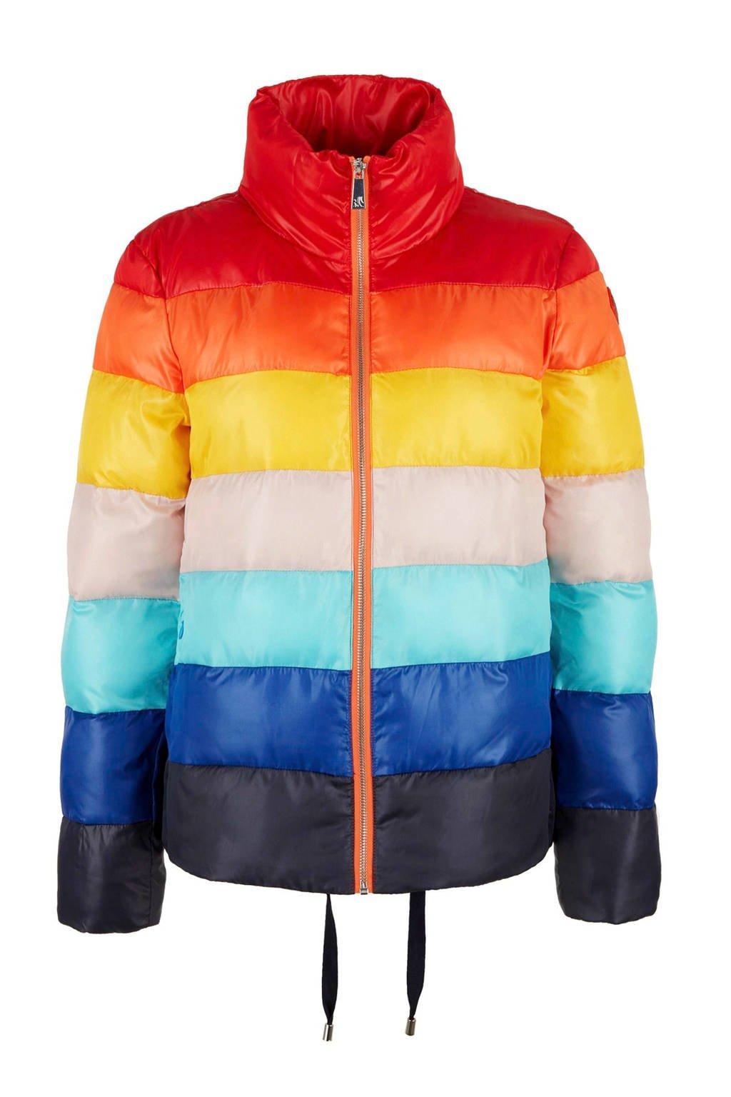 s.Oliver gestreepte jas multicolor, Rood/blauw/geel/oranje