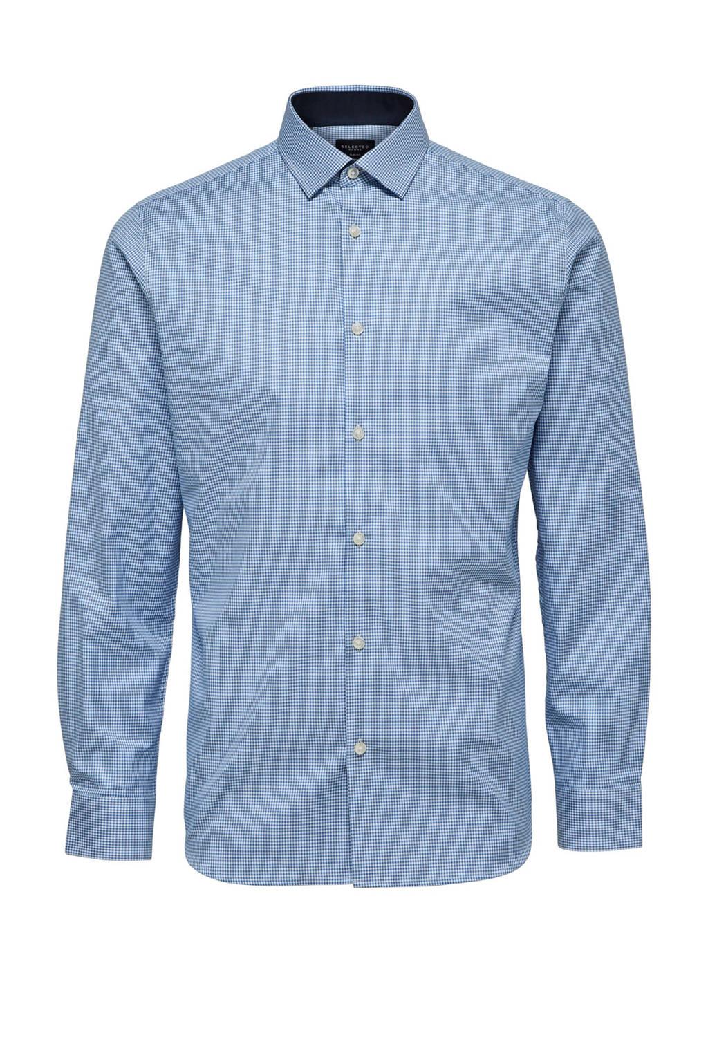 SELECTED HOMME New Mark slim fit overhemd, Blauw