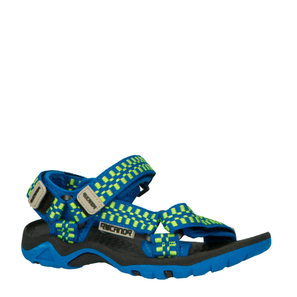 Rucanor   sandaal blauw/lime, Blauw/lime