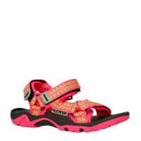 Rucanor   sandaal Bizerte VII roze/lime, Roze/lime/zwart