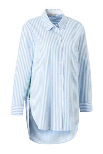 gestreepte blouse blauw met zijstreep
