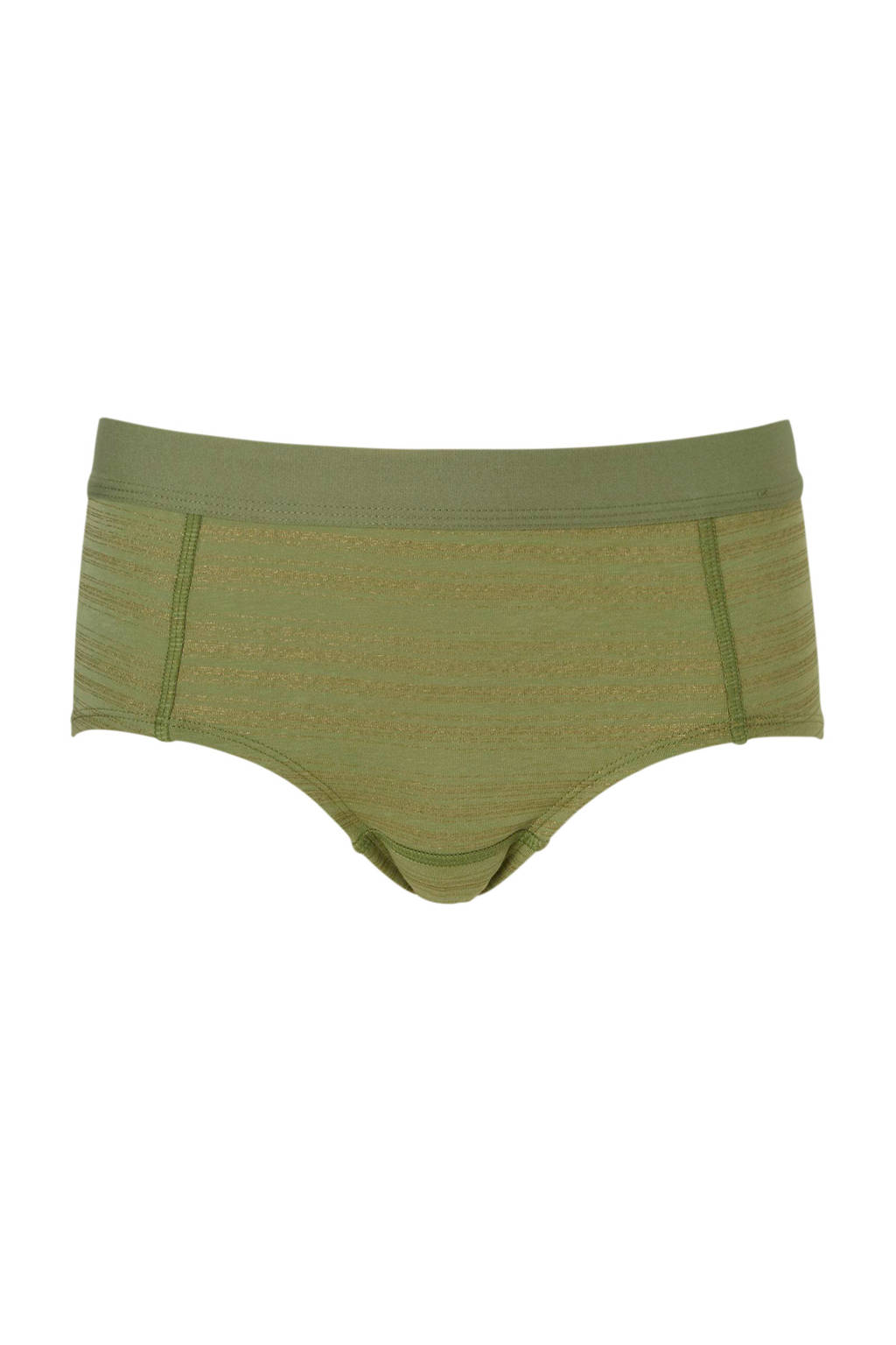 Boobs & Bloomers tienershort, Groen/goud