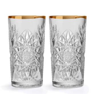 Hobstar longdrinkglas (Ø10,6 cm) (set van 2)