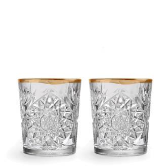 Hobstar waterglas (Ø10,6 cm) (set van 2)