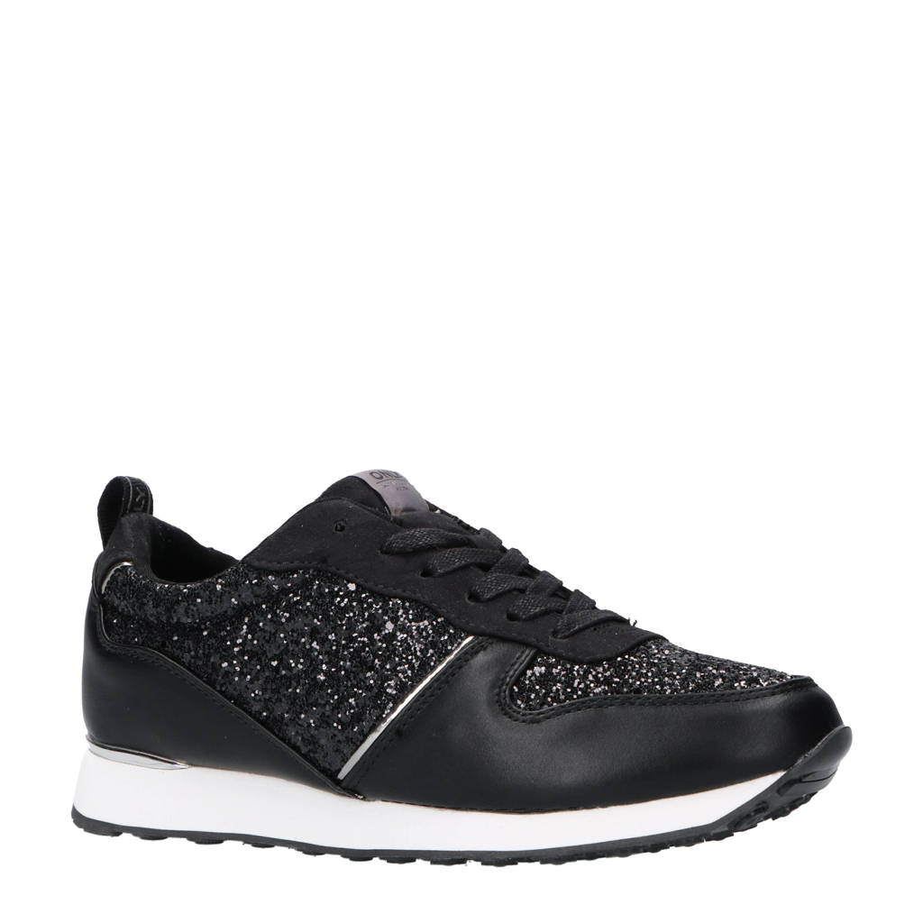 ONLY  sneakers zwart, Zwart/zilver