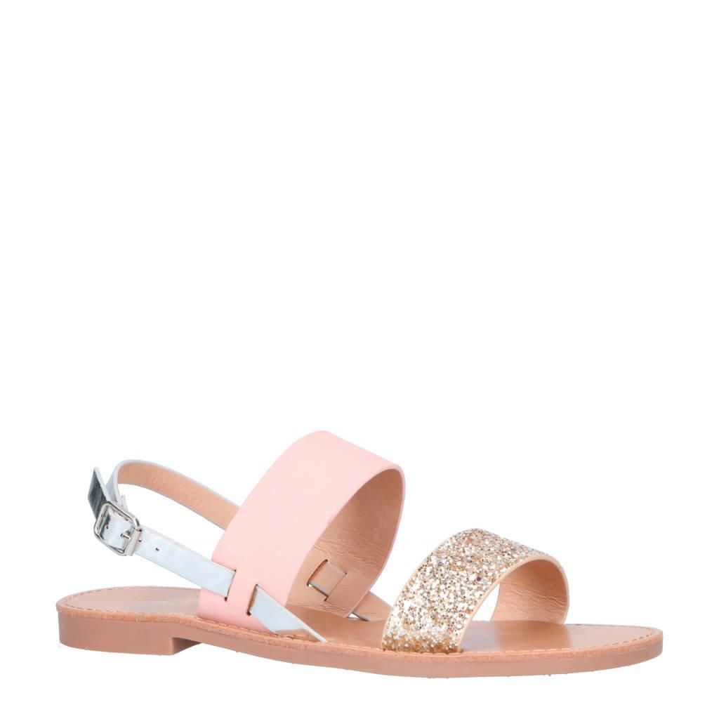 ONLY sandalen roze/zilver, Roze/Zilver