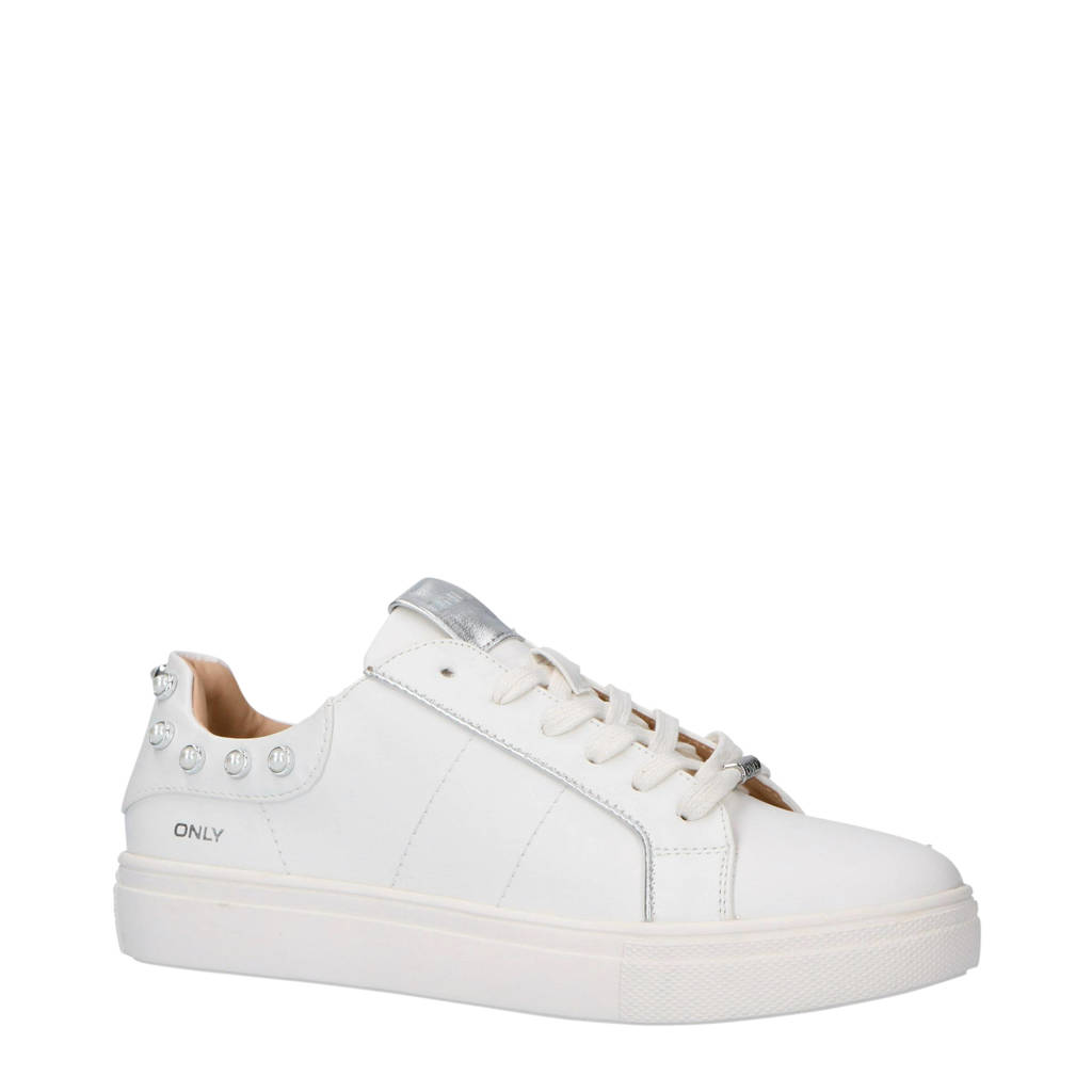 ONLY  sneakers wit, Crèmewit/Zilver
