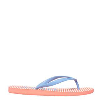 teenslippers blauw/oranje