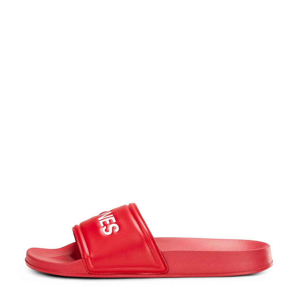 Jack & Jones slippers rood, Rood/wit
