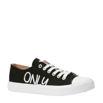 Suri canvas sneakers zwart/wit