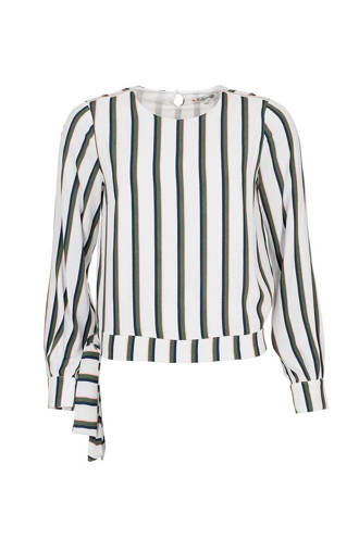 blouse met strepen ecru