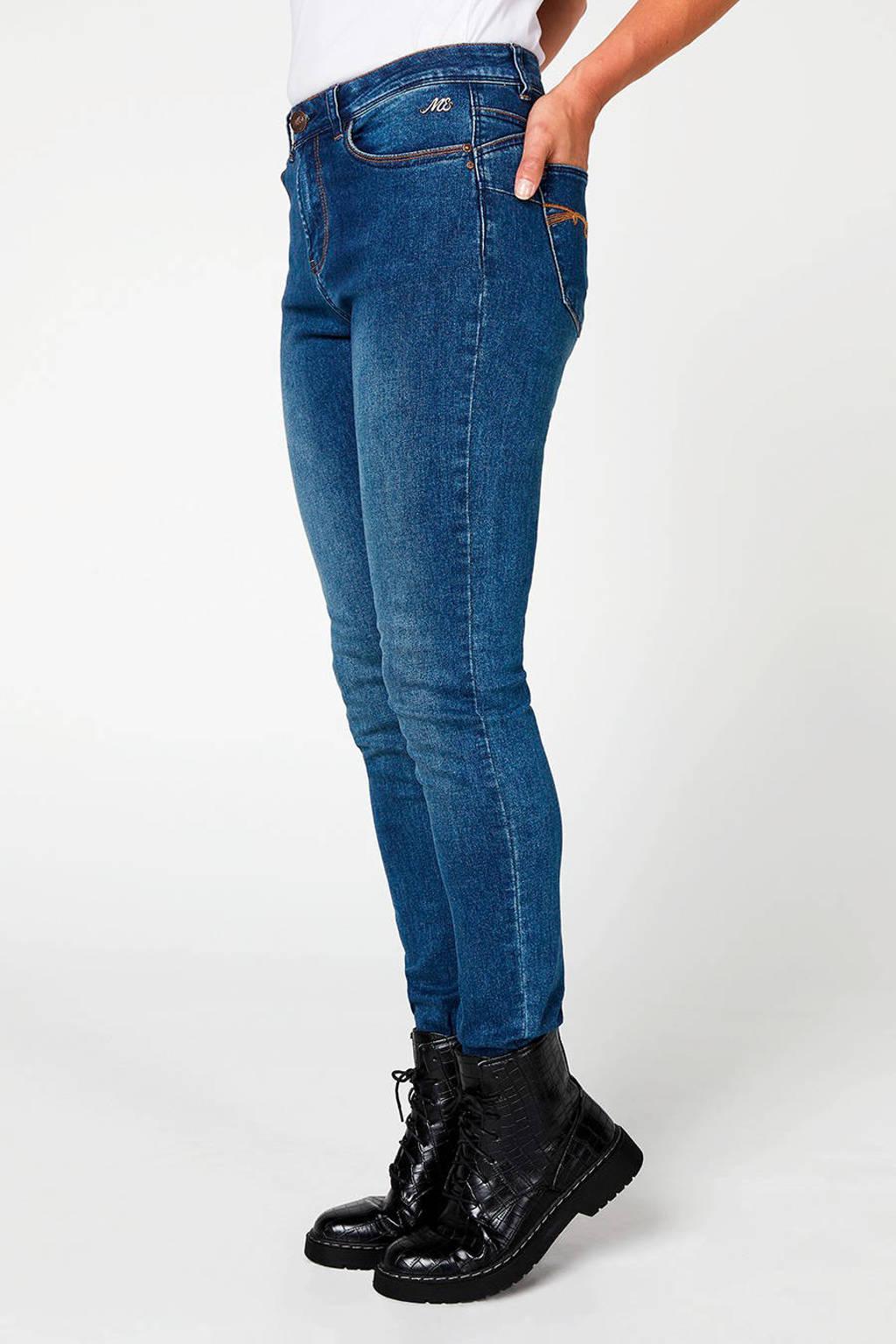 Miss Etam Regulier push up slim fit jeans 32 inch, Blauw