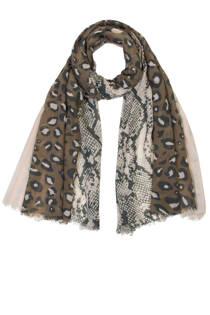 Miss Etam tijgerprint sjaal zwart