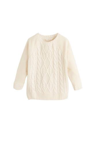gebreide sweater ecru