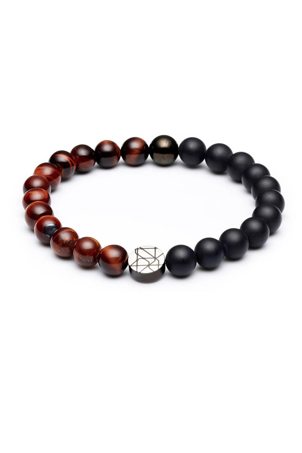 Sem Lewis armband SL220011, bruin, zwart