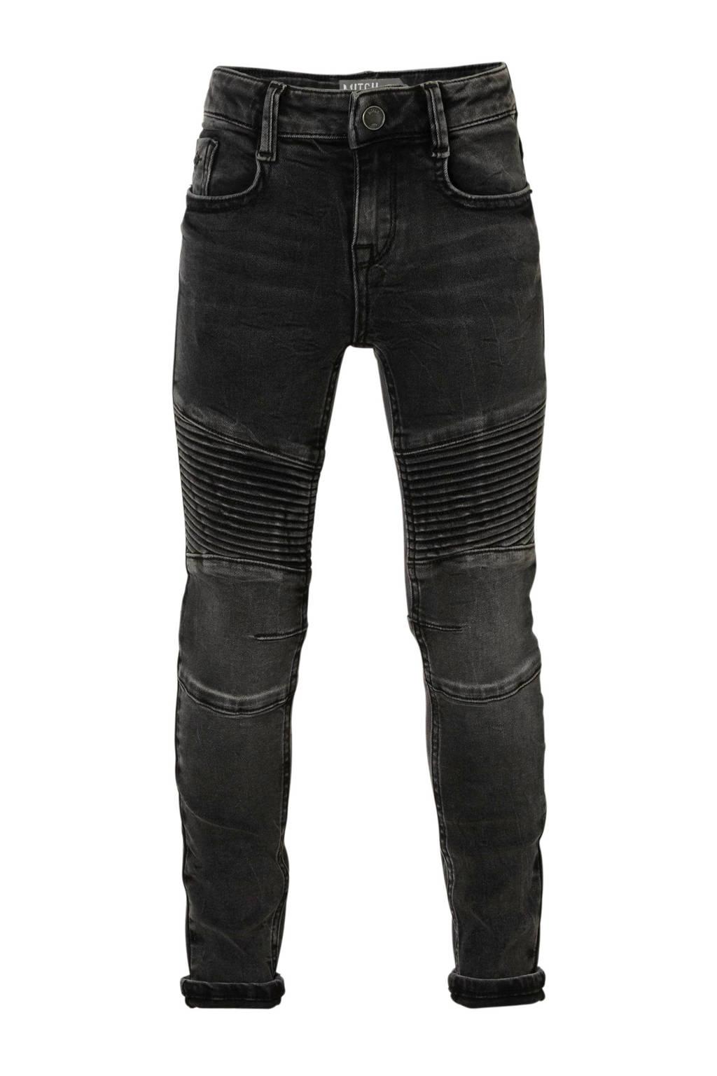 Mitch skinny fit jeans Biker, Zwart