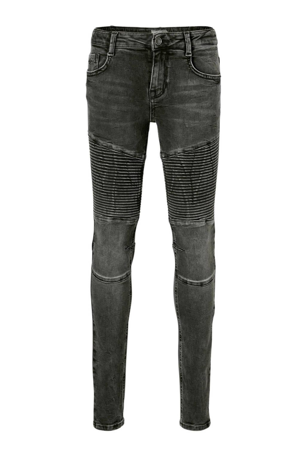 Mitch skinny fit jeans Biker Night, Zwart