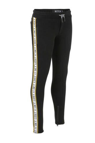 joggingbroek met zijstreep zwart