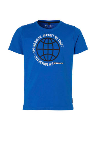 T-shirt Jaco met printopdruk blauw