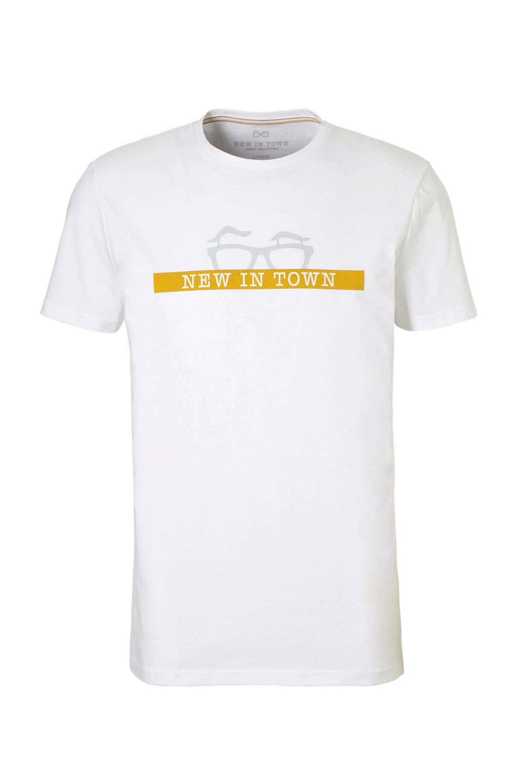 New in Town T-shirt wit, Wit