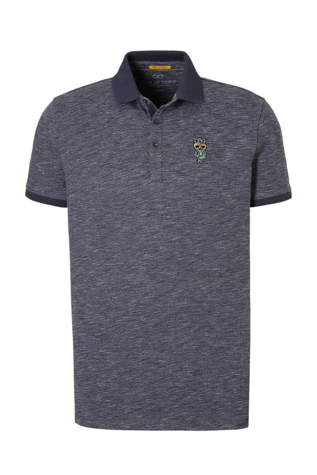 New in Town polo, Donkerblauw