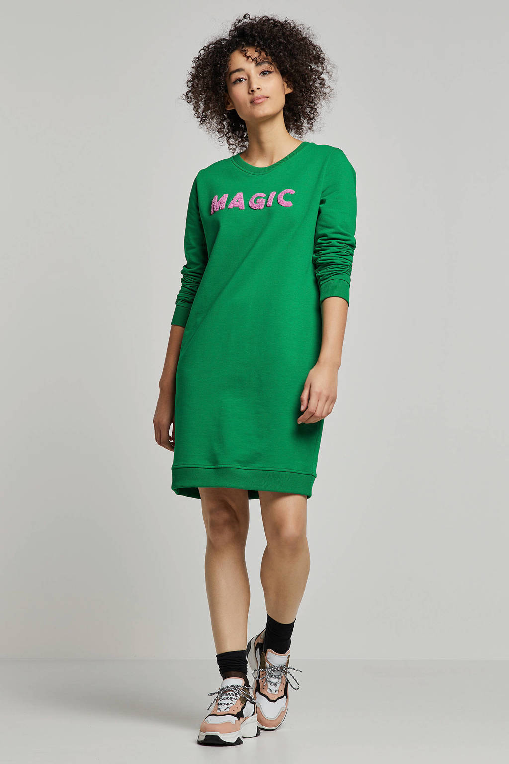whkmp's own sweat-jurk met teddy letters, Groen
