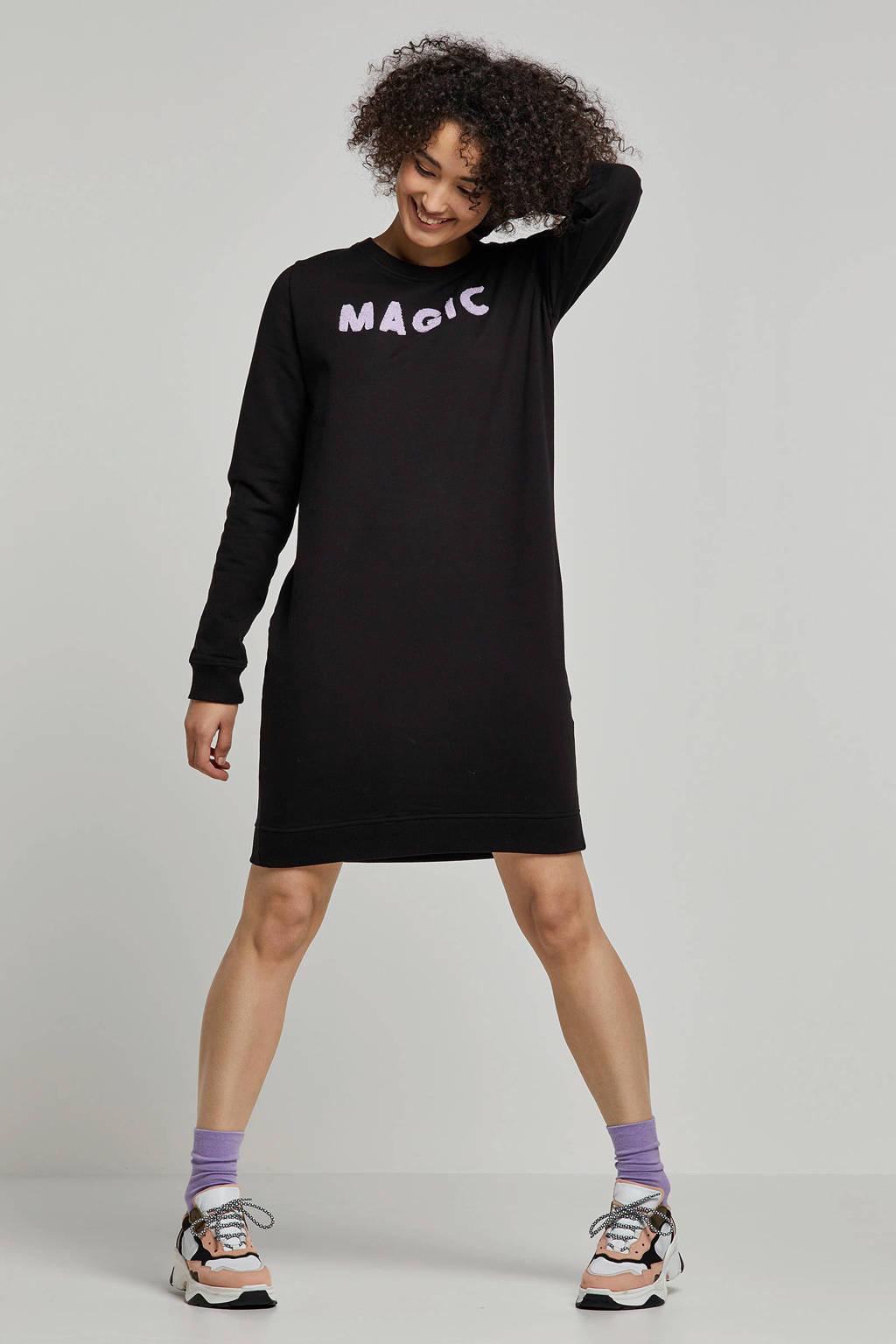 whkmp's own sweat-jurk met teddy letters, Zwart
