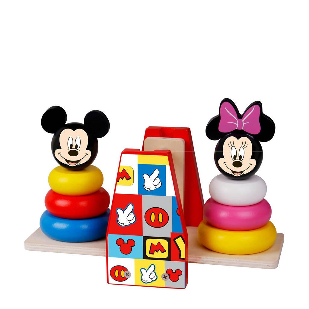 Disney Mickey Mouse houten stapeltoren weegschaal