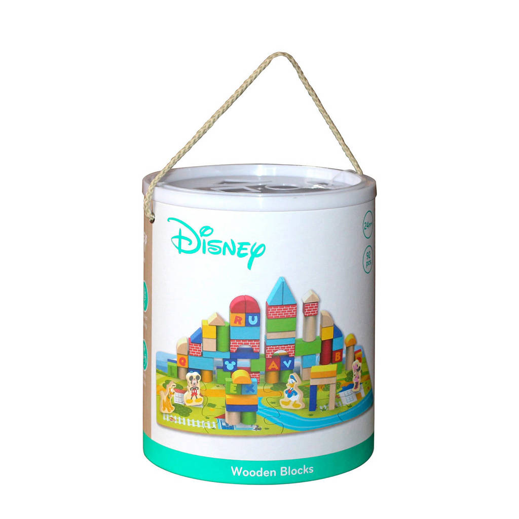 Disney Mickey Mouse houten blokken 92 stuks