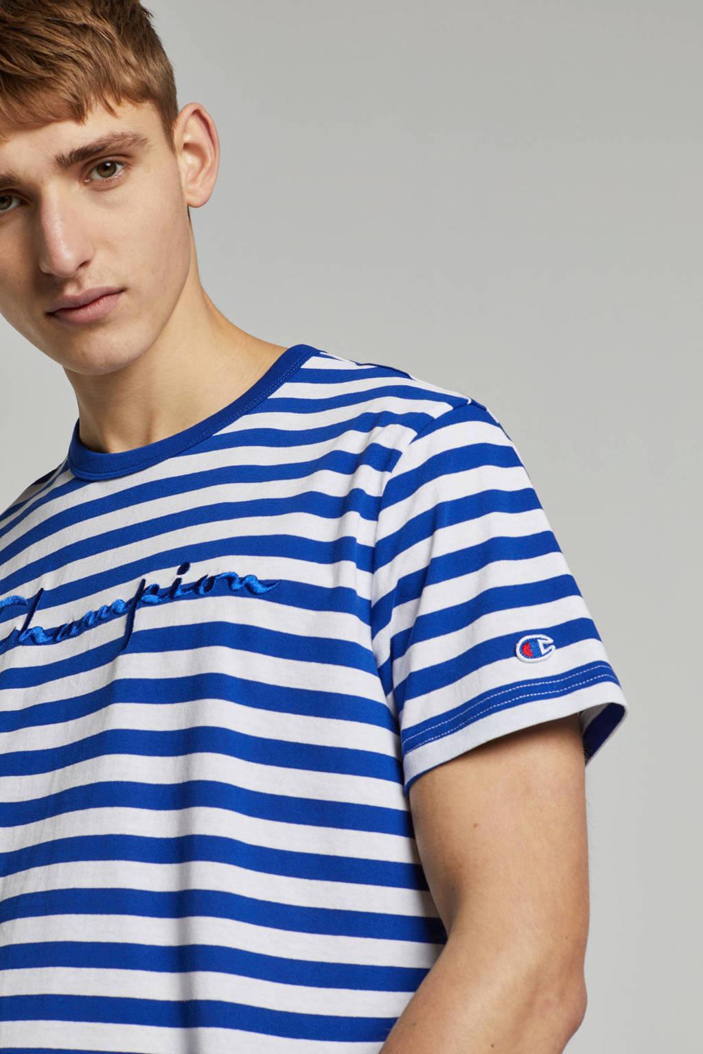 Champion T-shirt, Donkerblauw / Wit