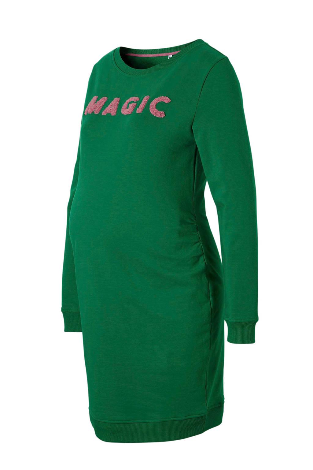 wehkamp zwangerschaps sweat-jurk, Groen