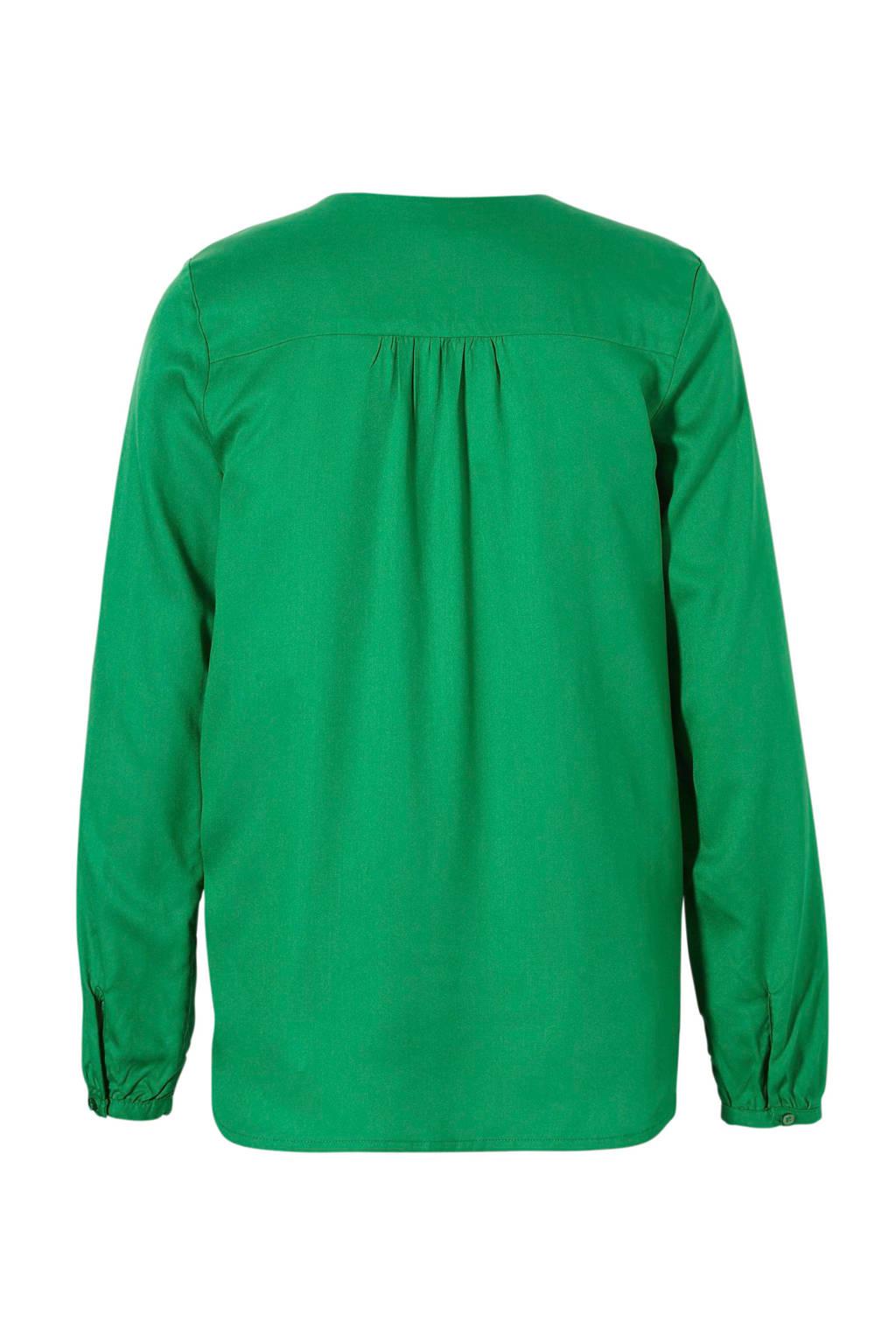 ARMEDANGELS top groen met V-hals, Groen
