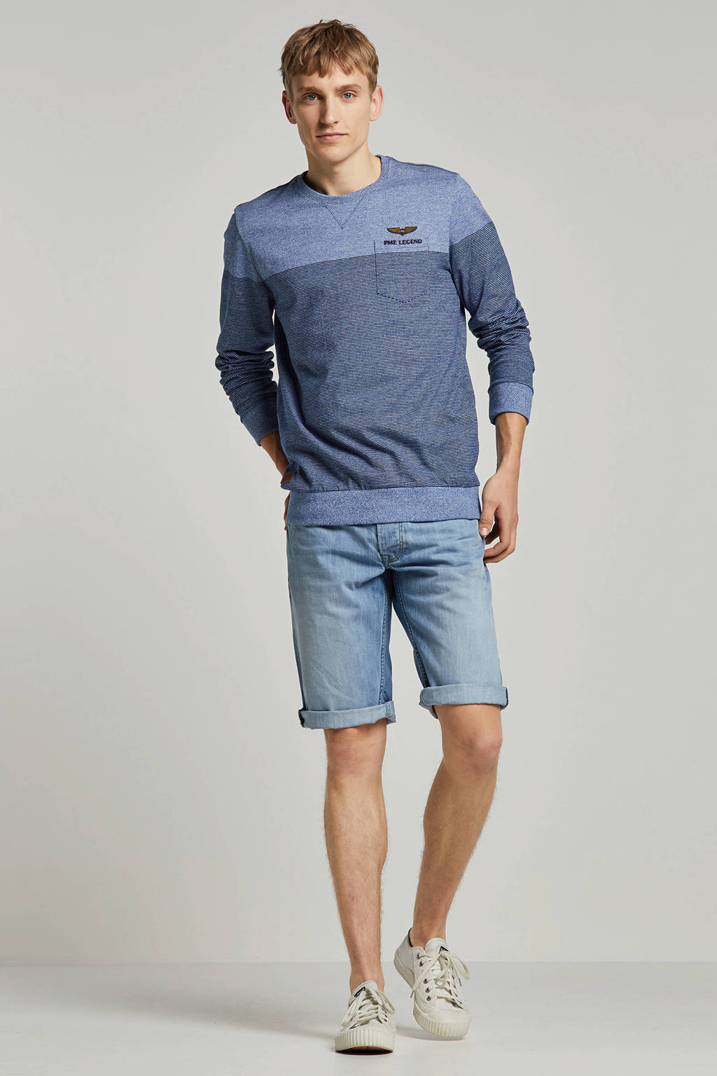 Pepe Jeans regular fit jeans short, Blauw