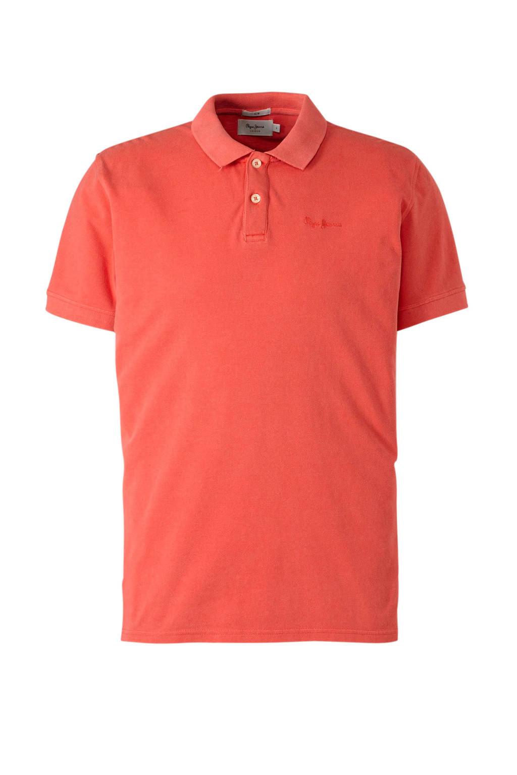 Pepe Jeans slim fit polo rood, Rood