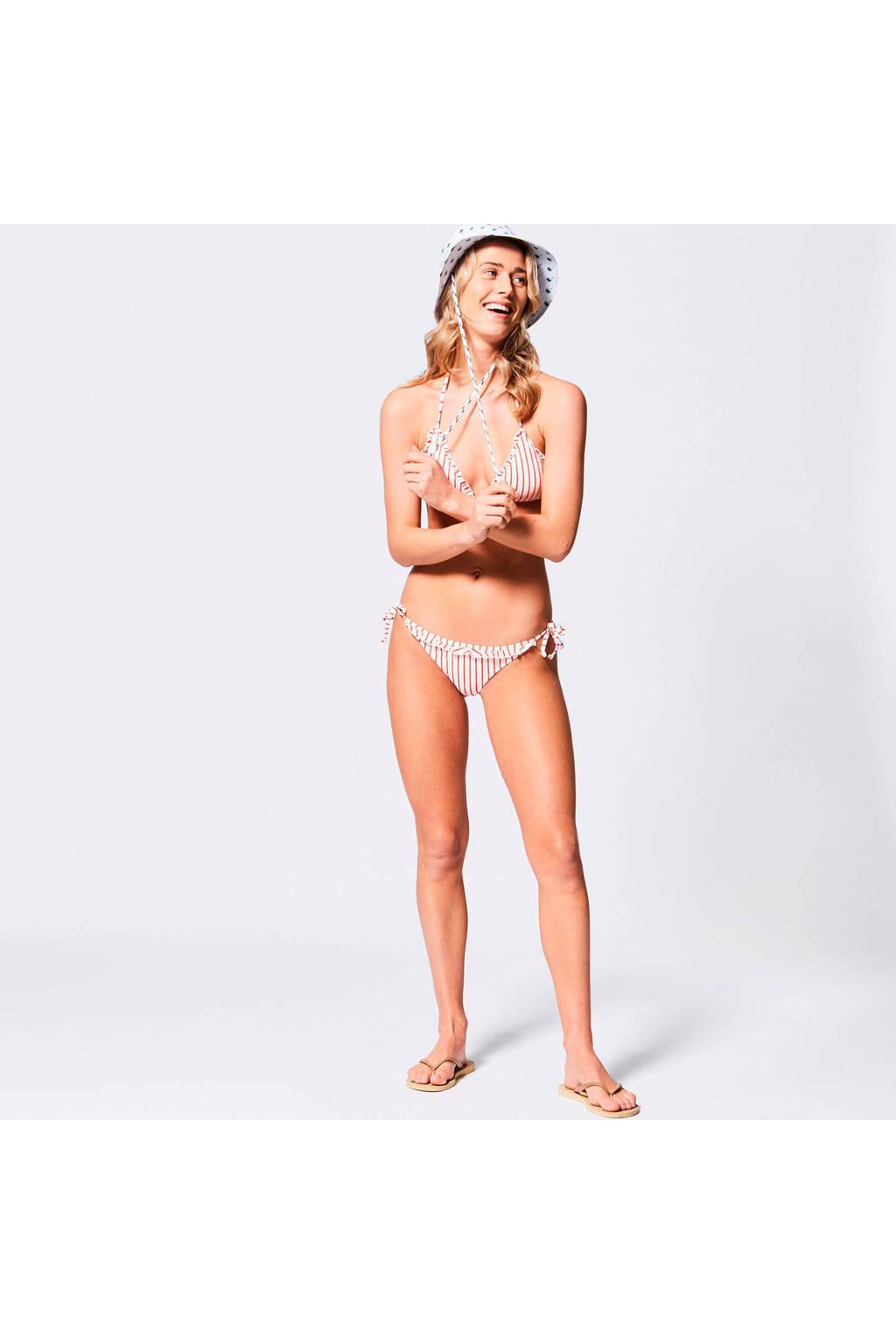 America Today gestreepte triangel bikinitop Apple wit/rood, Wit/rood