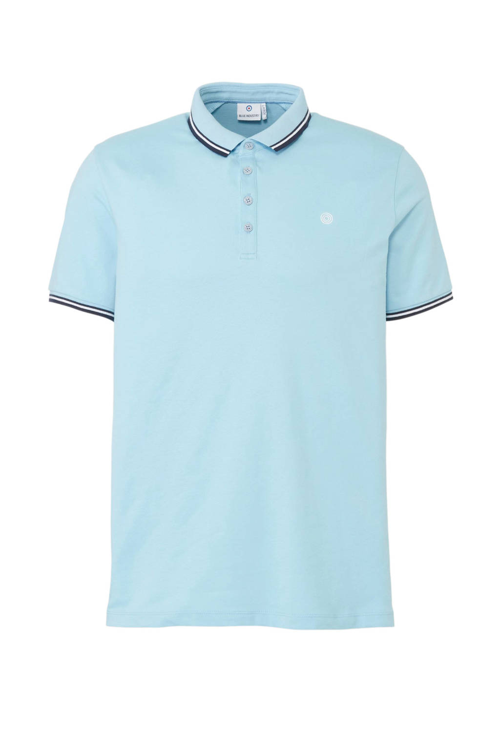 Blue Industry regular fit polo, Lichtblauw