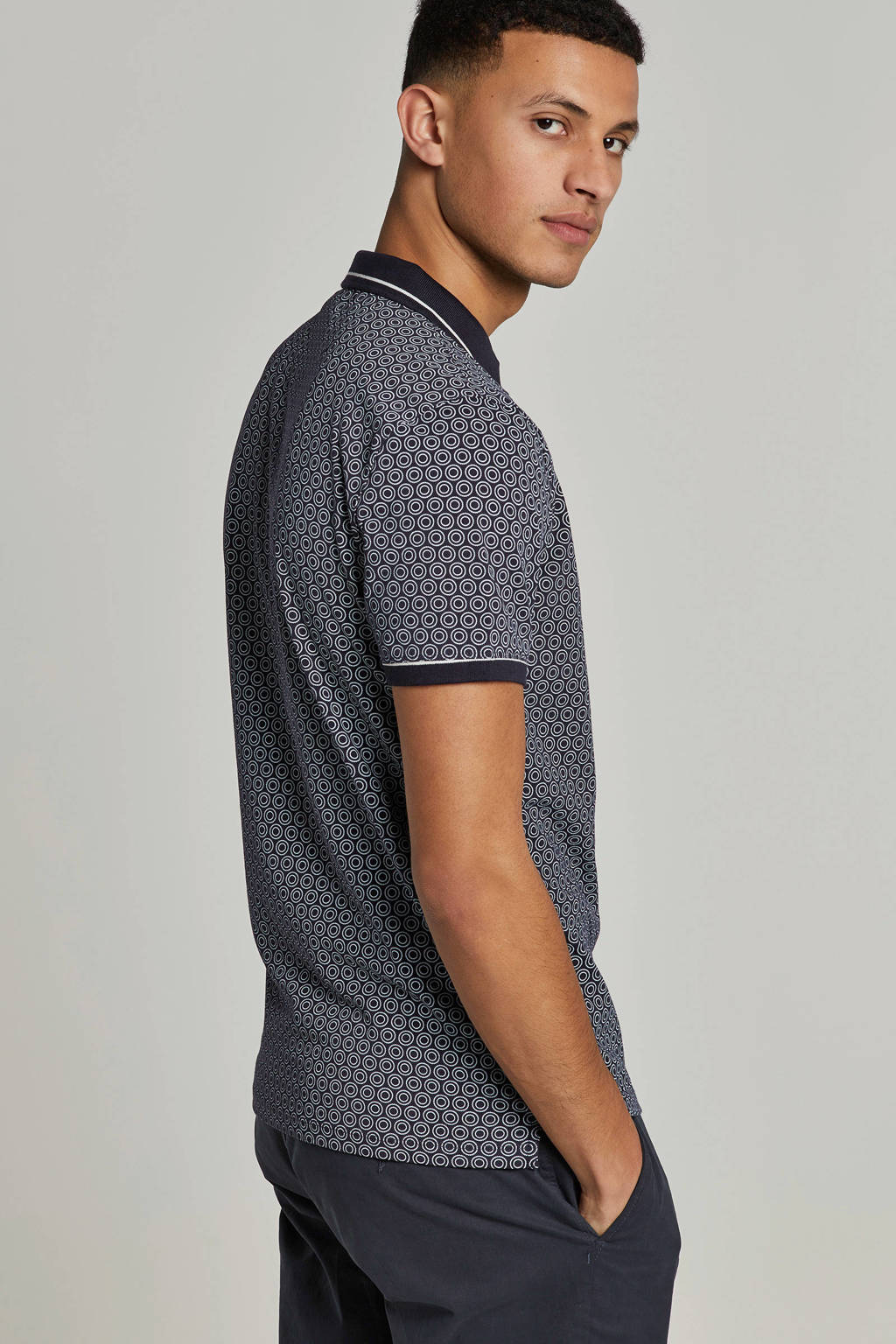 Blue Industry polo, Donkerblauw
