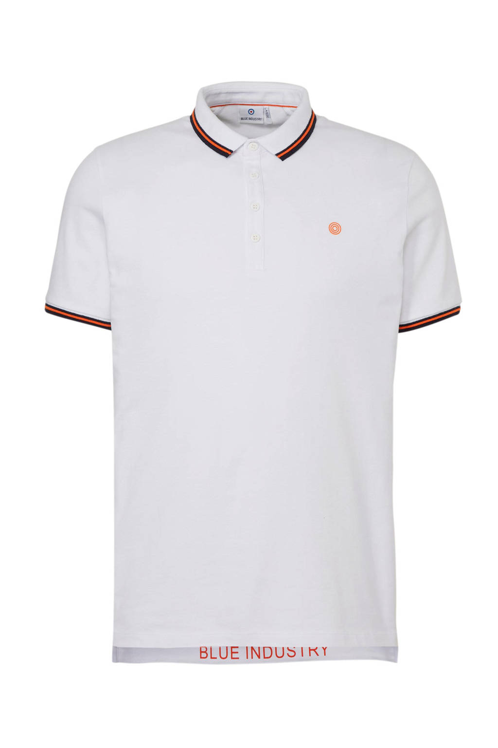 Blue Industry regular fit polo, Wit