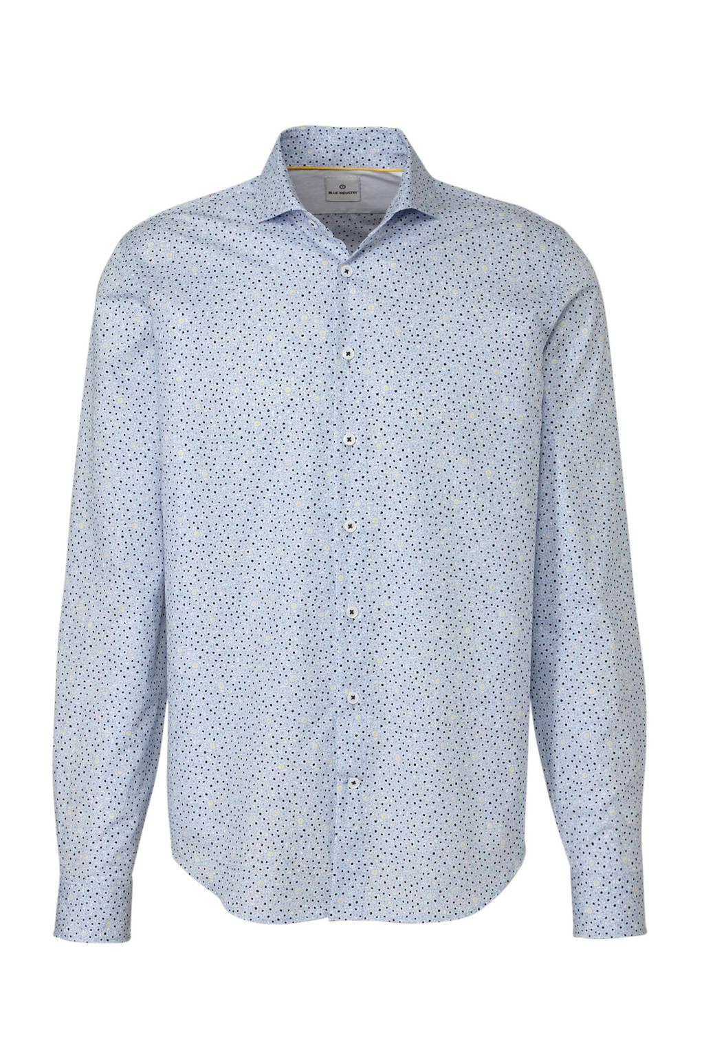 Blue Industry slim fit overhemd met print blauw, Blauw