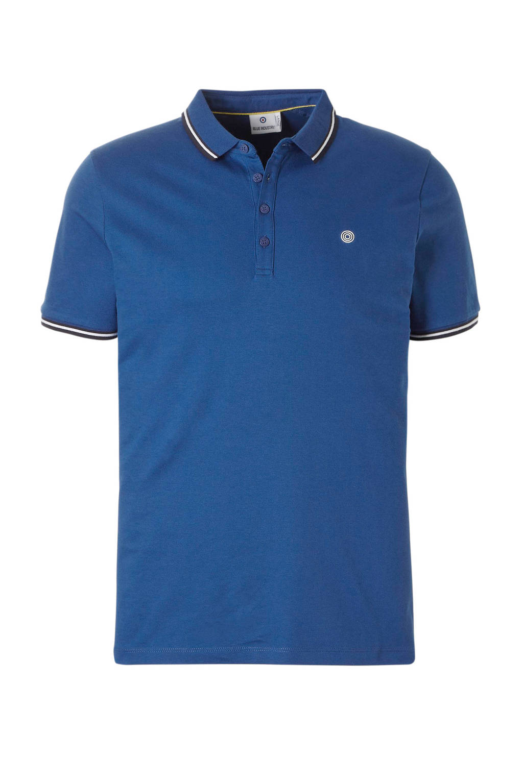 Blue Industry regular fit polo, Blauw