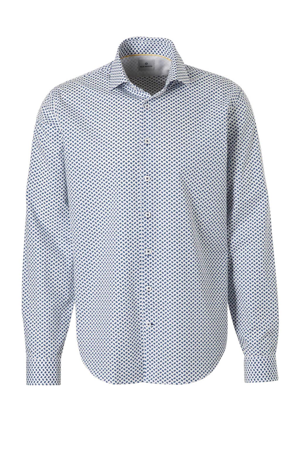 Slim Fit Wit Overhemd.Blue Industry Slim Fit Overhemd Met Print Wit Wehkamp