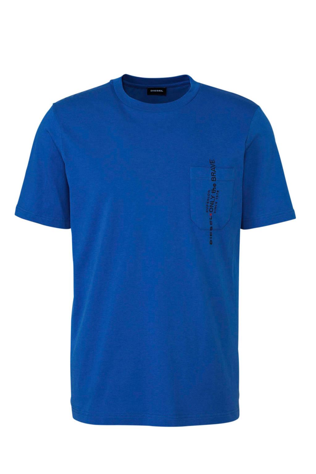 Diesel T-shirt blauw, Blauw