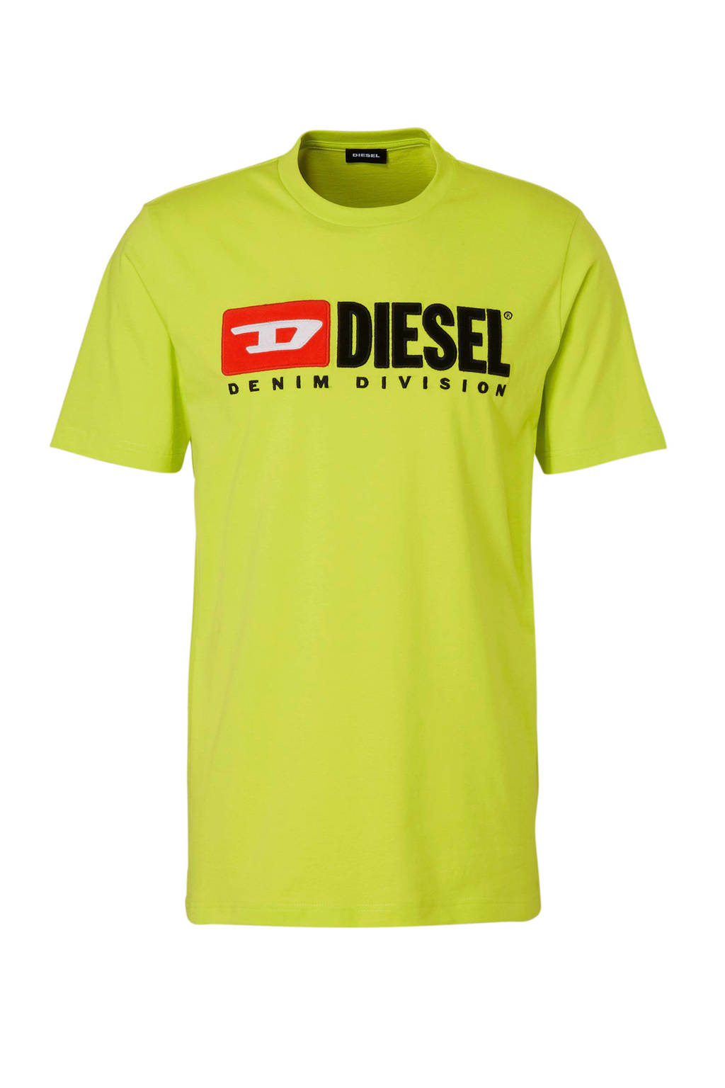 Diesel T-shirt met logo, Limegroen
