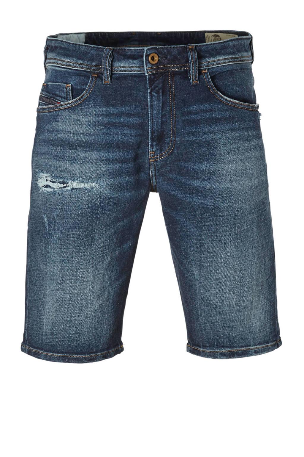 Diesel slim fit jeans short, Donkerblauw