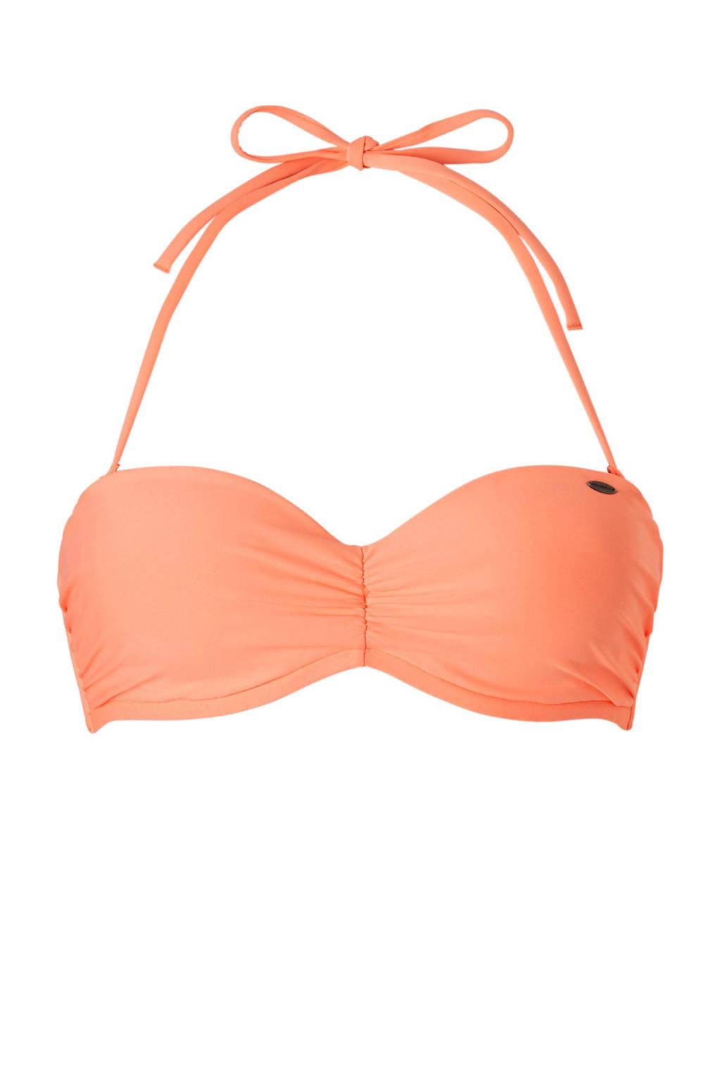 O'Neill bandeau bikinitop neon oranje, Neon oranje
