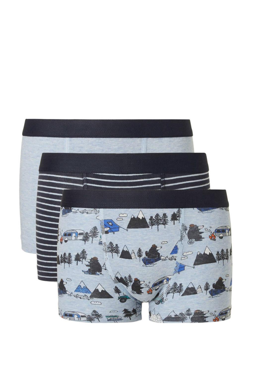 C&A Palomino   boxershort blauw - set van 3, Lichtblauw
