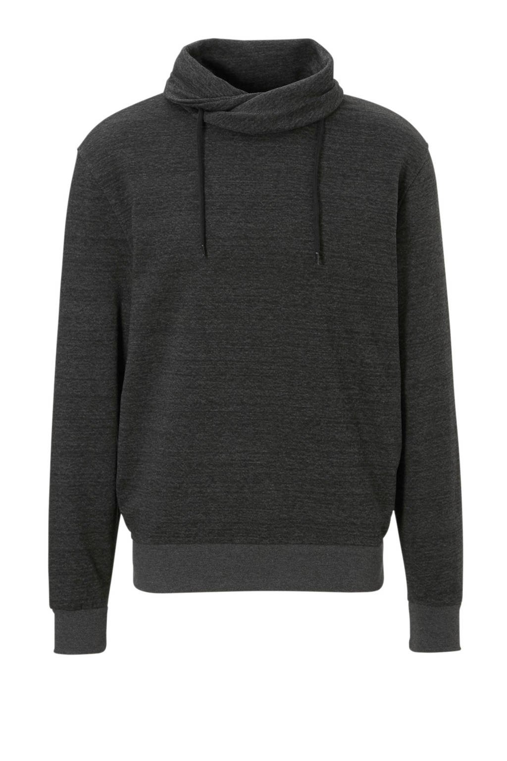 C&A Angelo Litrico gemêleerde sweater antraciet, Antraciet