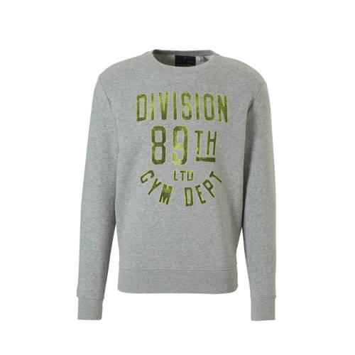C&A Angelo Litrico gemêleerde sweater met tekst opdruk grijs