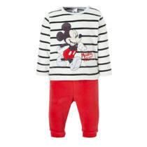 C&A Baby Club   Mickey Mouse velours pyjama met strepen